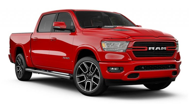 RAM 1500 Laramie Sport - Farbe: Flame Red
